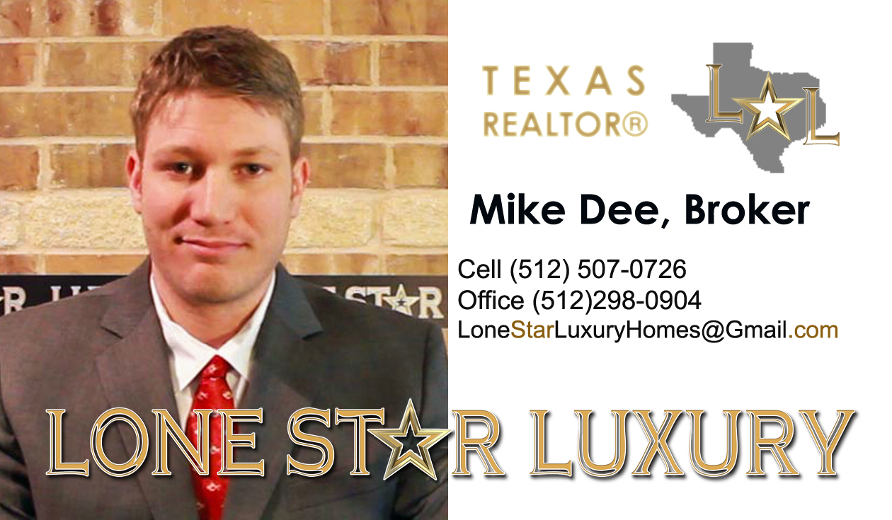 Mike Dee Lone Star Luxury business card front