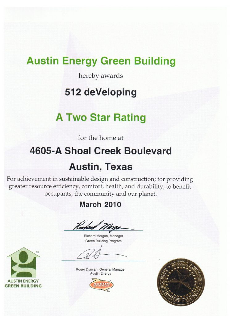 green building certificate A